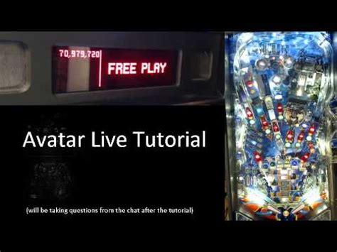 tutorial youtube live avatar stern 2010 live pinball machine tutorial youtube