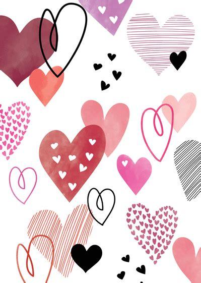 Carte Valentin by Carte Avec Coeurs Envoyer Cette Carte Valentin