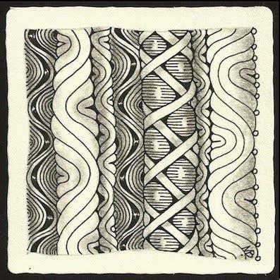 zentangle pattern vega enthusiastic artist stripe strings