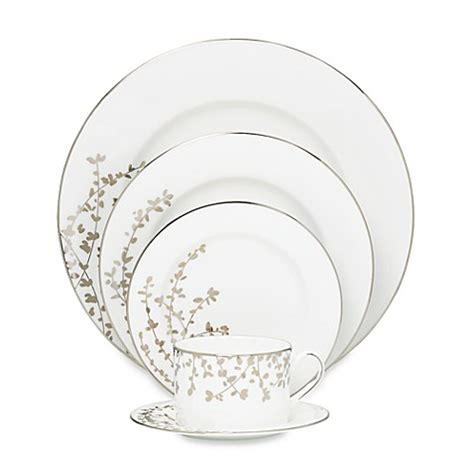kate spade dinnerware kate spade new york gardner platinum dinnerware collection www bedbathandbeyond ca