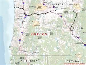 oregon geography map oregon maps