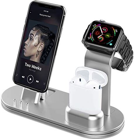 olebr charging stand for iwatch 38 42 40 44mm aluminum charging stand for iwatch series 4