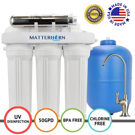 Sink Osmosis Water Filter System by Matterhorn 6 Stage Sink Superior Osmosis Uv