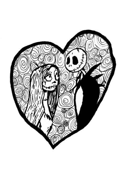 tim burton s nightmare before christmas coloring pages heart coloring pages just color coloring pages for adults