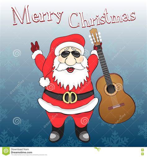 imagenes de navidad rock tarjeta de la feliz navidad rock and roll divertido santa