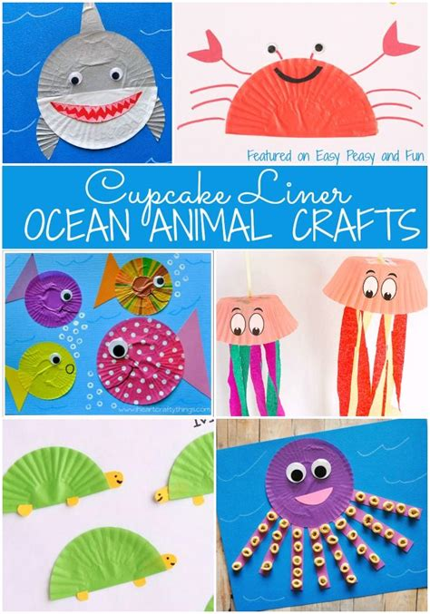 Oceanseven Animal Artworks 9 Tx animal cupcake liner crafts animal cupcakes cupcake liners and easy peasy