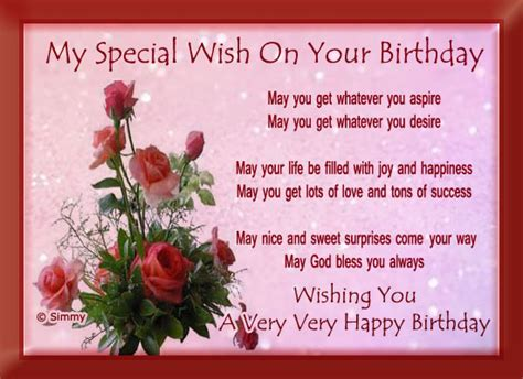 special person card template my special birthday wish free birthday wishes ecards