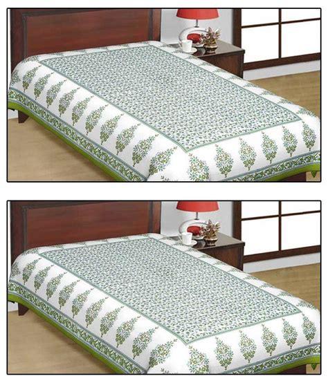 buying bed sheets shop rajasthan sanganeri print single cotton bed sheet