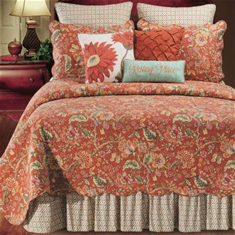 rust colored l shades adele jacobean floral rust quilt bedding