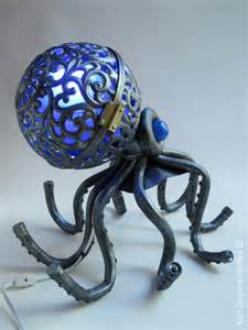 octopus lamp octopus lamp sculpture made of recycled parts