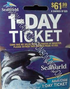 World Tickets Promo Seaworld San Antonio Printable Coupons November 2014