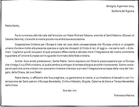 lettere al papa gennaio 2014 cooperazione cristiana per l europa