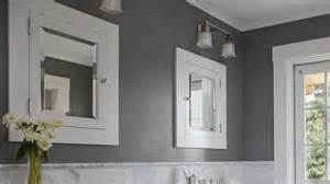 Wall Paint Ideas For Bathrooms grey bathroom paint colors completed with white framed wall