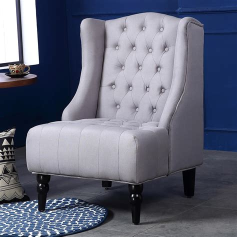 modern accent chairs belleze modern wingback tufted nailhead accent