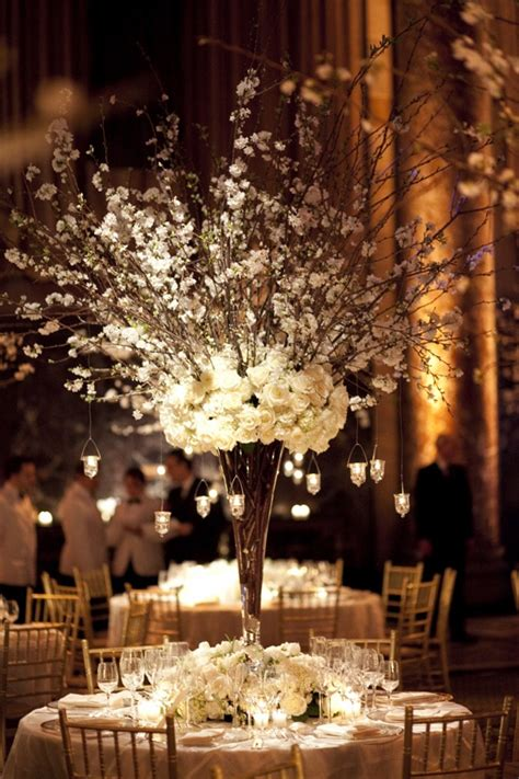 white branches for centerpieces cherry blossoms flowers