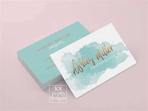 free watercolor business card template watercolor business card template gold printable
