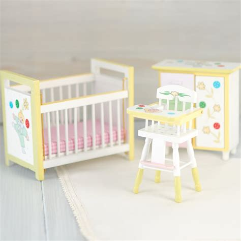 dollhouse nursery dollhouse miniature baby nursery set miniature furniture