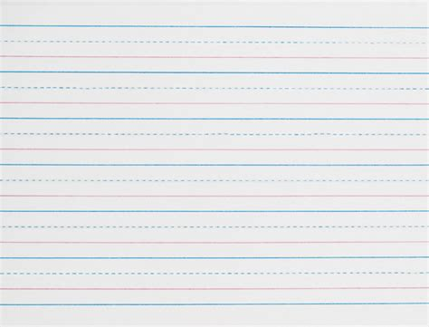 printable lined paper with dotted midline zaner bloser broken midline sulphite paper ream 3 4 quot long