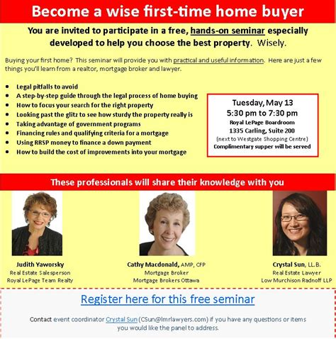 flyers for home buyer seminar flyer www gooflyers