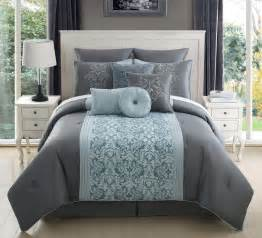 gray and aqua king bedding www imgkid the image
