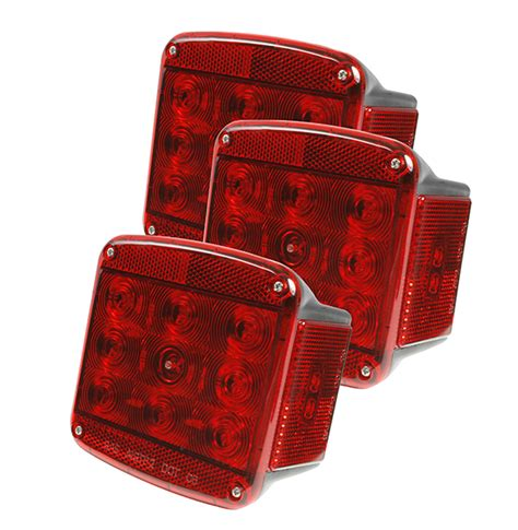 grote submersible led trailer lights 51962 3 submersible trailer lighting kit led stop tail turn