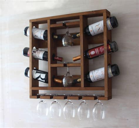 Handmade Wooden Wine Racks - wooden wine rack hanging wine glass rack rustic wine