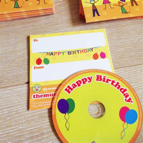 happy birthday song personalised cd by the musical