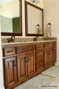 restaining bathroom vanity rustic hickory bathroom vanity cabinets rustic hickory