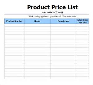 price list design template price list microsoft price list ms excel product price