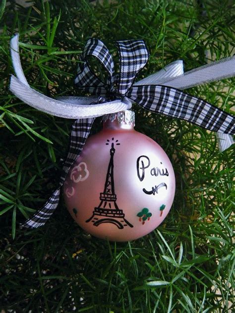 eiffel tower ornament personalized paris france vacation