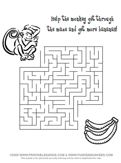 this is not a maze objects color search books monkey maze printables for free word search