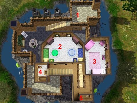 Mod The Sims Castle Dragonkin Sims 3 Castle Floor Plans
