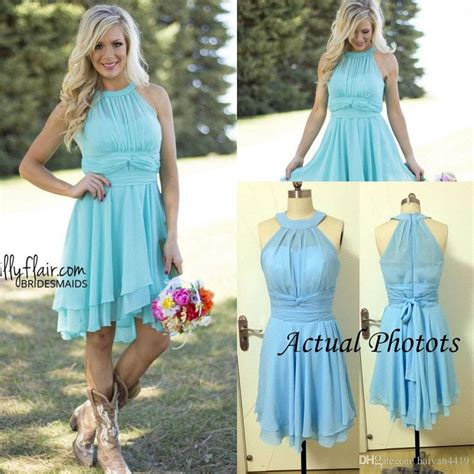 light blue dress for wedding guest 2016 light blue country bridesmaid dresses cheap
