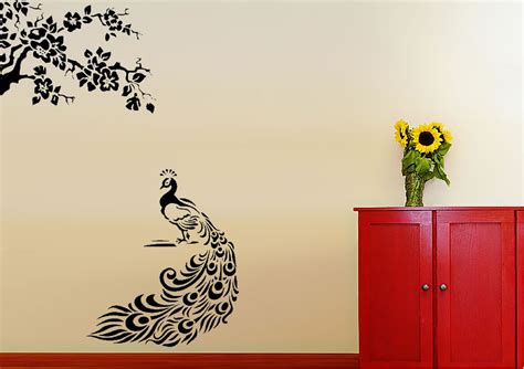 peacock feather wall sticker peacock feathers wall stickers adhesive wall sticker