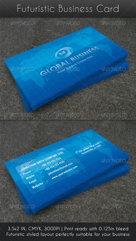 Futuristic Business Card Templates by Futuristic Business Cards Choice Image Business Card