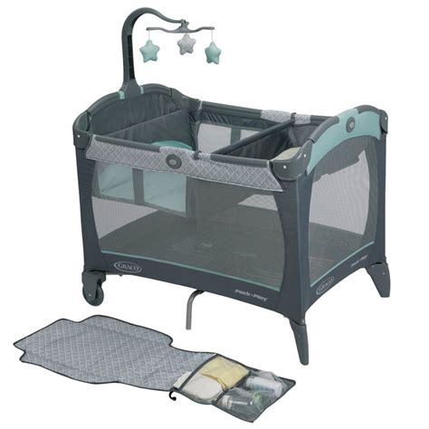 Pack And Play With Changing Table Graco Pack N Play Playard With Change N Carry Portable Changing Pad In Manor
