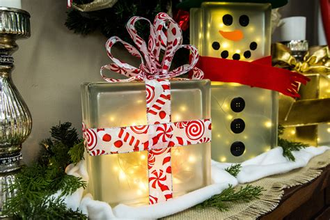 diy lighted glass box snowman hallmark channel