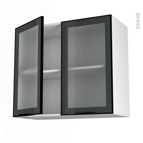 meuble haut ouvrant h70 fa 231 ade alu vitr 233 e 2 portes l80xh70xp37 sokleo oskab