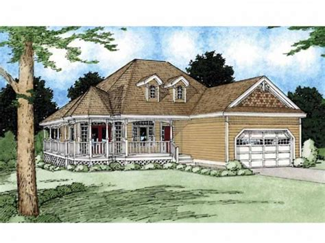 country home plans wrap around porch appealing wrap around porch hwbdo55319 country from