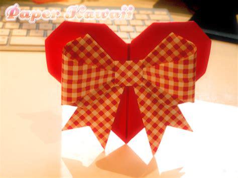 Origami Ribbon - origami hearts paper kawaii