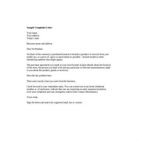 Complaint Letter Sle To Supplier Customer Complaint Letter 9 Free Word Pdf Documents Free Premium Templates