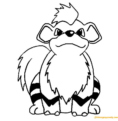 pokemon coloring pages arcanine growlithe pokemon coloring page free coloring pages online