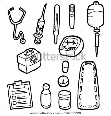 nurse tools coloring page stock images similar to id 105391154 cartoon doctor and