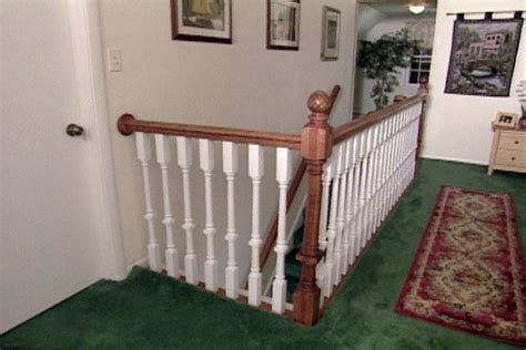 install  wood stair railing   kit diy