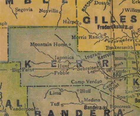 map of kerr county texas kerr county texas