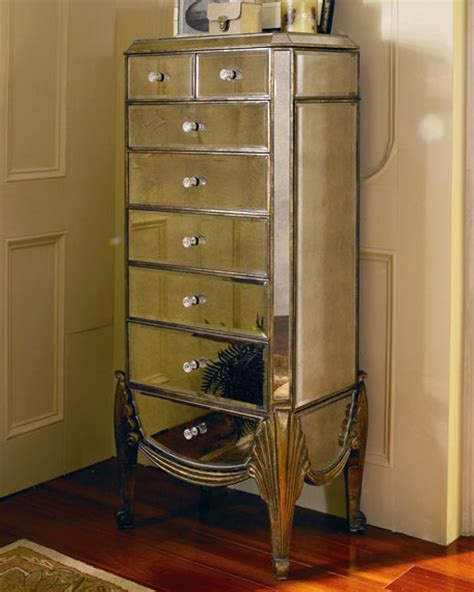 jewelry mirrored armoire quot claudia quot mirrored jewelry armoire