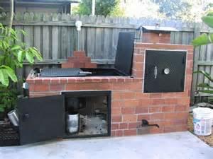 Backyard Brick Grill Brick Barbecue Outdoor Smoker Home Improvements And Barbecue