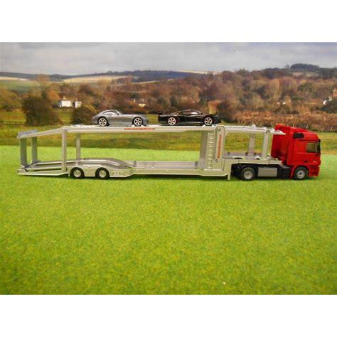 Siku Truck Transporter Langka Siku 1 50 Mercedes Actros Car Transporter Lorry With 2