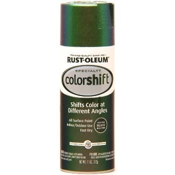 rust oleum 12 ounce specialty spray color shift 254861 gamma green