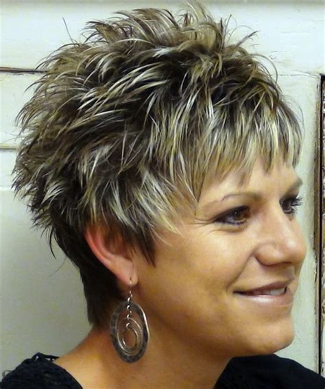 spikey short mature womens hairstyles short spikey hairstyles for women over 40